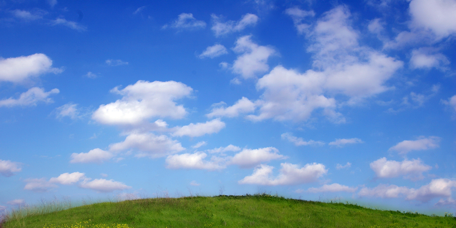 Background Of Sky And Clouds Above The Hill