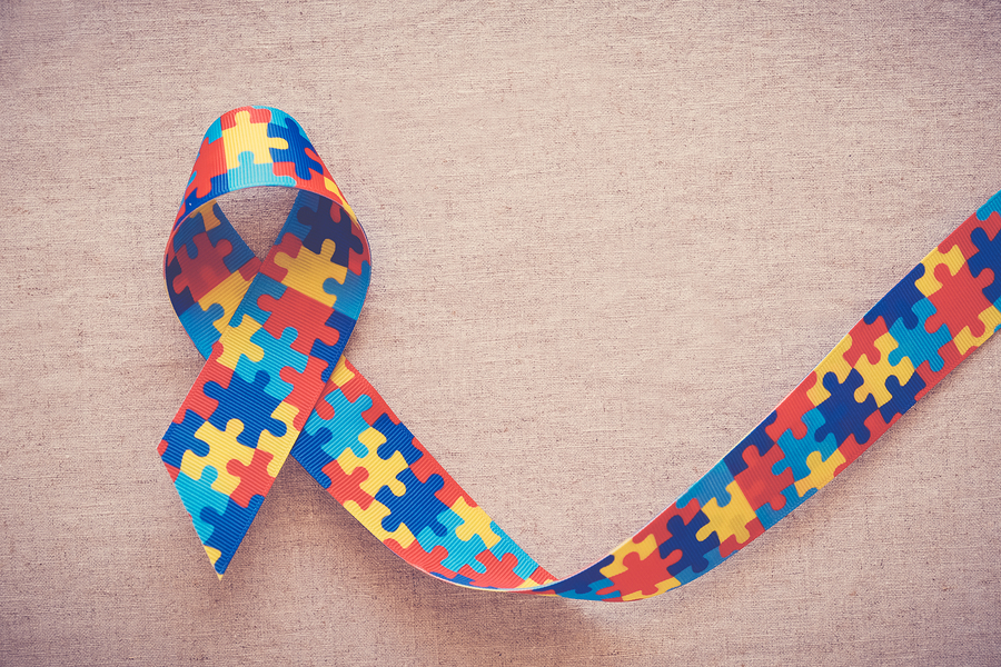 Colorful Puzzle Ribbon For World Autism Awareness